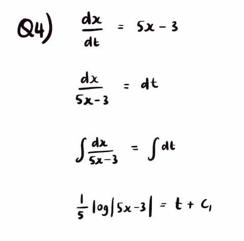 University Maths equation